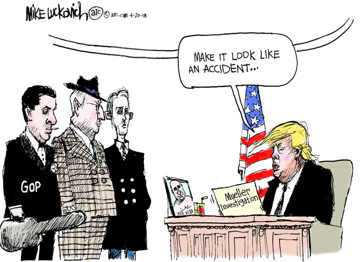 Mike Luckovich for Apr 20, 2018