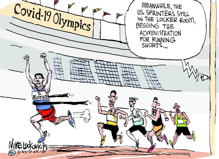 Mike Luckovich for Apr 01, 2020