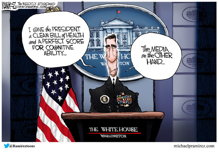 Michael Ramirez for Jan 22, 2018