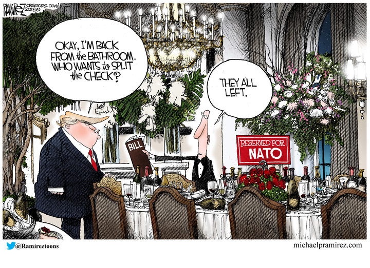 Michael Ramirez for Jul 12, 2018