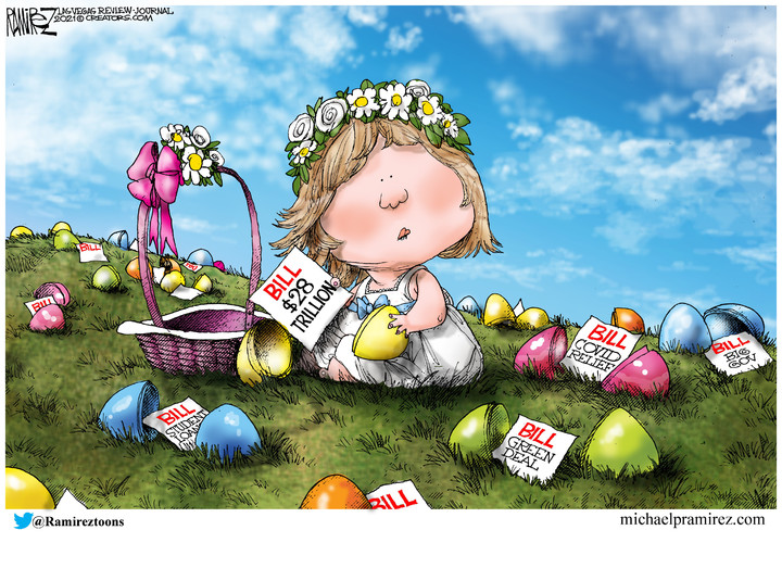 Michael Ramirez for Apr 04, 2021