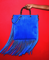 The fringe flows in spring's latest handbags. Shown: Gucci's suede shopper available at select Nordstroms.