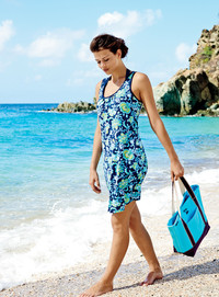 Refresh your swimwear with a new swim dress cover-up from Lands' End.