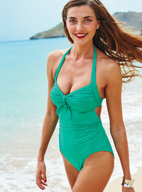 Retro styling and vintage glamour are spring and summer's biggest swimwear trends hitting the beach. Photo from Lands' End.