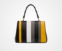 The bold graphic striped handbag is one of spring's favorite accessory trends. www.prada.com