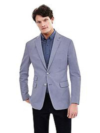 The blues have it this spring. Combine light and dark blues like this jacket and shirt from Banana Republic.