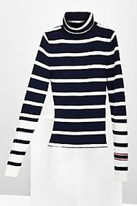 Order up a striped turtleneck sweater —one of fall's best sweaters to add to your sweater collection.Shown: Sweater from TommyxGigi at www.usa.tommy.com .