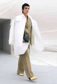 Put a glamorous spin on Western-inspired fashion with Celine's embroidered lambskin coat. www.celine.com.