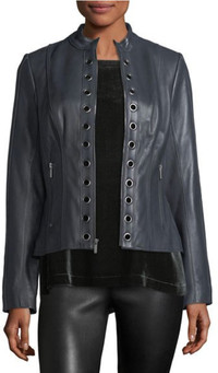 Black leather worn head-to-toe is making a big fashion statement for fall. www.neimanmarcus.com