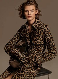 This leopard-print trench coat is from Michael Kors and available at www.michaelkors.com.