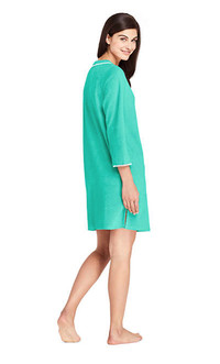 Hit the beach in stylish cover-ups. Lands End terry tunic dress from www.landsend.com
