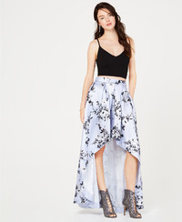 Make a statement in a two-piece crop top and high-low floral maxi skirt by Speechless at Macy's. www.macys.com.