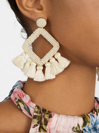 Unique earrings make the perfect statement gift for Mother's Day. Tassel and beaded earrings by Laniyah at Bauble Bar.
