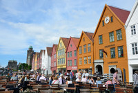 The historic buildings of the Bryggen area in Bergen, Norway, are one of that historic city's main attractions. Photo courtesy of Priscilla Lister.