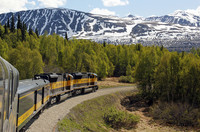 Alaska Railroad offers a scenic journey from Anchorage to Denali National Park. Photo courtesy of www.hansentravel.org.