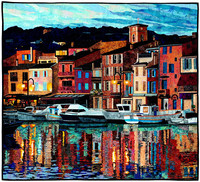 """""""Port of Cassis"""" by Lenore Crawford of Midland, Michigan, is one of the outstanding pieces on display at the National Quilt Museum in Paducah, Kentucky. Photo courtesy of the National Quilt Museum."""