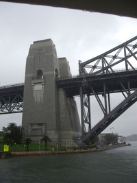 One side of the iconic Harbour Bridge in Sydney is anchored in The Rocks. Photo courtesy of Steve Murray.