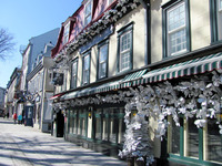 . A walking tour is a good way to see Old Town in Quebec City, Canada. Photo courtesy of John Blanchette.