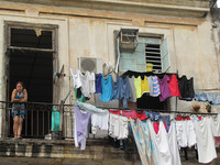 This scene is typical of life in Old Havana, Cuba. Photo courtesy of Barbara Selwitz.