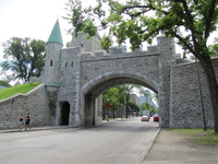 Several gates were cut into the walls that surround Quebec City during the 19th century. Photo courtesy of Barbara Selwitz.