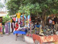 Commerce hums at the Dilli Haat shopping area in New Delhi, India. Photo courtesy of Barbara Selwitz.