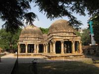 Centuries-old structures sit adjacent to the Hauz Khas shopping area in New Delhi, India. Photo courtesy of Barbara Selwitz.