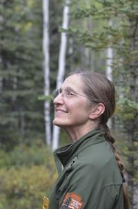 Ranger Kris Fister enjoys the serenity of Denali National Park and Preserve in Alaska. Photo courtesy of Donna Barnett.