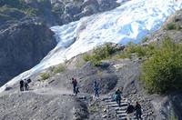 Hikers enjoy a day at Exit Glacier on Alaska's Kenai Peninsula. Photo courtesy of Donna Barnett.