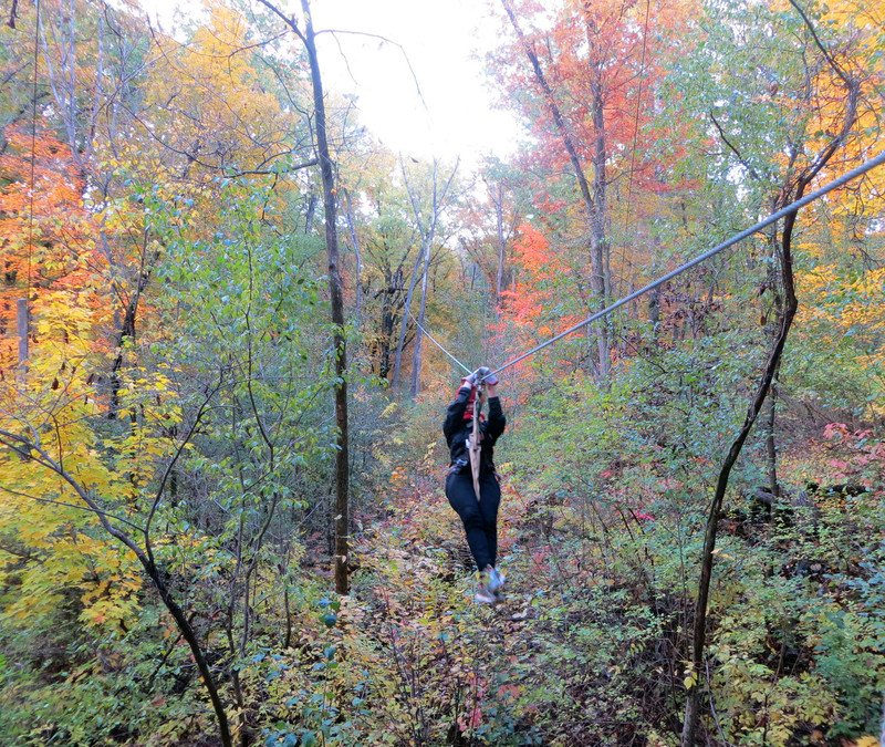 Nothing Puts You Closer To Wisconsins Fall Foliage And Pumps Up Your Heart Like Zip Lining On A Lake Geneva Canopy Tour Photo Courtesy Of Norma Meyer
