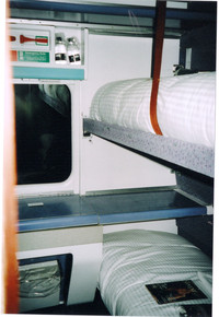 The twin Standard Sleeper Berth is a comfortable place to sleep on the Caledonian Sleeper between Scotland and England. Photo courtesy of Sharon Whitley Larsen.