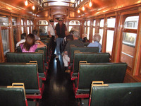 Visitors to Northern California enjoy traveling by an interurban railway car built in St. Louis in 1903 by the American Car Co. for the Peninsular Railway. Photo courtesy of Patricia Arrigoni.