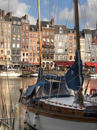 In Normandy Honfleur's Harbor is known as one of the most beautiful in France. Photo courtesy of L. Belither.
