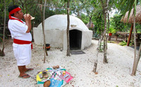 A temazcal sweat-lodge experience to purify body and soul is available at Chankanaab Park in Cozumel. Photo courtesy of Victor Block.