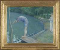 """The Swimmer"" painted by Gustave Caillebotte in 1877, will be on display at this year's art festival in Normandy, France. Photo courtesy of French Government Tourism."