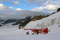 A flightseeing landing on Ruth Glacier near Mount Denali in Alaska is a once-in-a-lifetime thrill. Photo courtesy of Norma Meyer.