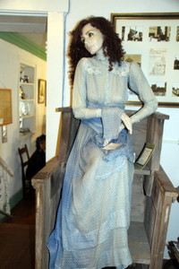 ". The museum in historic Fincastle, Virginia, displays its pioneer past. This unlucky woman was convicted of ""Loud of Mouth."" Photo courtesy of Norma Meyer."