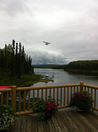 Aviation is a primary means of transportation in Alaska, and Talkeetna boasts more than a dozen public and private airstrips that launch float planes full of fishermen and adventurers into the wilderness. Photo courtesy of Lesley Sauls.