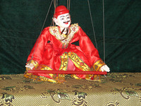 Puppet shows are a traditional form of entertainment in Myanmar. Photo courtesy of Sandra Scott.