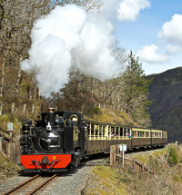 The Rheidol Railway carries visitors to Wales through 11 miles of the country's most beautiful vistas. Photo courtesy of John R. Jones.