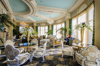 Among the treasures available to guests at the Nemacolin Woodlands Resort in Farmington, Pennsylvania, is a luxurious tearoom. Photo courtesy of Nemacolin Woodlands Resort.