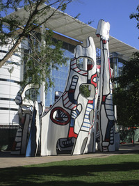 This Jean Dubuffet sculpture graces Houston's Discovery Park. Photo courtesy of Barbara Selwitz.