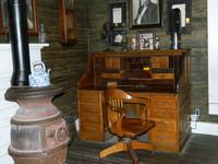 "The working desk of Jasper Newton ""Jack"" Daniel is still at the Jack Daniel's Distillery in Lynchburg, Tennessee. Photo courtesy of Steve Bergsman."