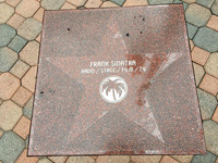Visitors to Palm Springs, California, can see stars that commemorate local entertainers, such as Frank Sinatra, in the sidewalks. Photo courtesy of Karen Kenyon.