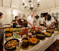The Wednesday evening pig roast at the Hermitage is a much-loved tradition on the Caribbean island of Nevis. Photo courtesy of Victor Block.