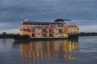 International Expeditions' riverboat, La Estrella, plies the waters of the Amazon River. Photo courtesy of Margot Black.