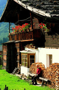 This inviting home is typical of those set in Austria's Tyrolean Alps. Photo courtesy of the Austrian Tourist Office.