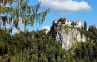 . Bled Castle perches high above Bled Lake in Slovenia. Photo courtesy of Doug Hansen.