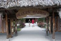 A couple visiting Bora Bora take a break at the famous Bloody Mary's bar. Photo courtesy of Halina Kubalski.