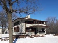 Frank Lloyd Wright designed the Stockman House in Mason City, Iowa. Photo courtesy of Steve Bergsman.