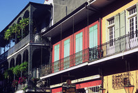 Colorful buildings abound in New Orleans' historic French Quarter. Photo courtesy of Halina Kubalski.